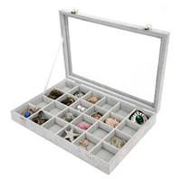 ingrosso scatola portagioie per gioielli-Ice Floral Cashmere Trasparente copricinghia Jewelry Display Box Anello Orecchino Collane Custodia per il trucco Custodia per gioielli 26 5yc gg