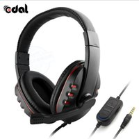 Wholesale Games Mic - Edal Stereo Headphone Headset Casque Deep Bass Computer Gaming Headset with Mic for PS4 XBOX-ONE PC Game Earphone