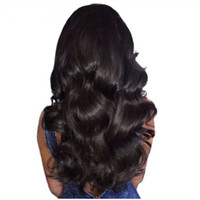 Wholesale human hair wigs online - 9A Pre Plucked Natural Hairline Full Lace Wigs For Black Women Body Wave Brazilian Virgin Human Hair Lace Front Wigs With Baby Hair