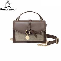 ingrosso mini sacchetti di lino-2018 borse a tracolla per donna borse in pelle borse di lusso borse donna designer paglia catena di lino tracolla sac a main