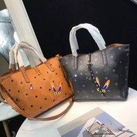sac à main d'impression coréenne achat en gros de-Sac à main de mode coréenne de haute qualité matériel féminin sac imprimé shopping lapin 3D.