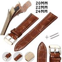 ceintures en cuir marron filles achat en gros de-20mm 22mm 24mm Bracelet de montre en cuir Bracelets Bracelet en cuir Bracelet brun noir pour hommes et femmes Accessoires Ceintures pour garçons et filles
