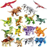 Wholesale toy blocks for sale - Jurassic World Dinosaurs Block Puzzle toy Tyrannosaurus Rex Pterosauria Triceratops Building Blocks Toys For Children s educational toys