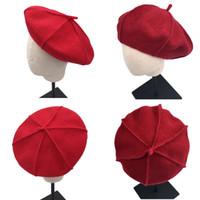 48ac6b74a181f Venta al por mayor de Sombrero De La Boina Roja De Los Cabritos ...