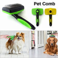 Wholesale green lighting products - Pet Dog Cat Self Remove Hair Fur Cleaning Slicker Brush Comb Shedding Grooming Tool yellow green colors AAA713