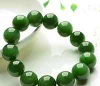 boncuklar tayvan toptan satış-Doğal bir mallar Tayvan Safir bilezikler Ispanak yeşil yeşim moda boncuk bilezik