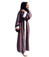 muçulmanas mulheres roupas venda por atacado-Mulheres muçulmanas moda rendas manto longo impressão senhoras roupas mulheres árabes senhoras malásia abayas muçulmano robes