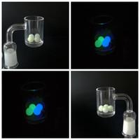 seqüestro de ajuste venda por atacado-Mais novo Luminous Beads Glowing Pérolas 8mm Quartzo Bead Ball Insert Com Azul Verde Claro Terp Top Beads Para Quartz Banger Prego Dab Rigs SW51