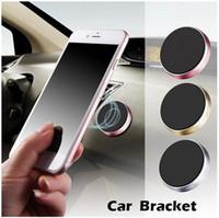 magnethalter für handy großhandel-Universal Mini Magnetic Handy Halter Auto Armaturenbrett Halterung Handy Halter Ständer für iPhone X 8 SamsungS8 S6 LG Magnet Halterung