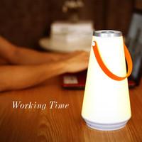 lámpara recargable de emergencia para el hogar al por mayor-Creativo Lovely Portable Wireless LED Home Night Light Lámpara de mesa USB Rechargeable Touch Switch Outdoor Camping Luz de emergencia