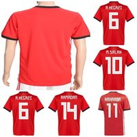 Wholesale womens ripped shirts - Mens Womens Kids Custom 2018 World Cup Egypt Soccer Jerseys 6 A.HEGAZI 10 M. SALAH 11 KAHRABA 14 RAMADAN Blank Football Shirt