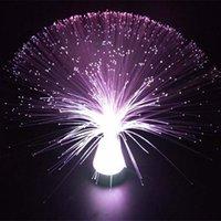 lámparas relajantes al por mayor-Hot Beautiful Autism Calming Sensory Lámpara de luz LED Multicolor Fibra óptica Hielo Relájese cambiando el estilo de moda