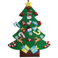 hot style felt christmas tree decorations deluxe decorated childrens toy diy christmas tree handmade customized design ornaments - Childrens Christmas Tree Decorations
