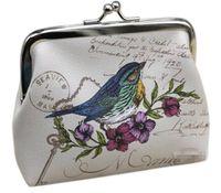kuşlar kartları toptan satış-Childgren Kadınlar Mini Baykuş Kuş Çiçek Cüzdan Kart Tutucu Kılıf Sikke çanta Debriyaj Çanta Çanta 12 adet /