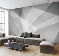 Wholesale home bedroom design photos resale online - 3d Novelty Geometric Designs Abstract Wallpapers Mural for Living Room Home Wall Art Decor Photo Wallpaper Custom Size