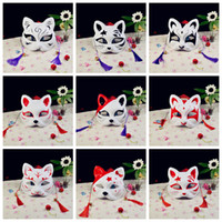 Wholesale fox cosplay online - 19styles Sexy Cat Party cosplay Masks Anime Prom mask Cat Festival party masks bar supplies Full Face Halloween Mask Animal cat fox FFA