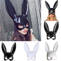 Wholesale sexy toys cosplay resale online - 4styles Halloween Party Rabbit Ears Mask Masquerade Sexy Bunny Masks Cosplay Costume Black White Carnival Halloween Decoration FFA745