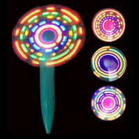 Wholesale message flash - LED Luminous Light up Fan Pen,LED Flashing Message pen Fan,keep cool this summer with the cool+pen around.