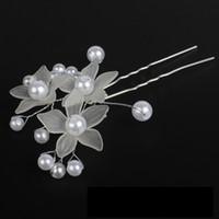 Wholesale korean acrylic hair - 2018 FEIS Hotsale Bridal jewelry, Korean yarn, flowers, hair fork, fashion, new style wedding dress jewelry