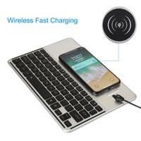 ipad için kablosuz şarj cihazı toptan satış-Bluetooth Kablosuz Mini Klavye 7 Renk Hızlı Şarj ile Android IOS Telefon Tablet için Arkadan Aydınlatmalı Klavyeler ipad Dizüstü PC TV Kutusu
