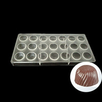 Wholesale polycarbonate shapes - Chocolate Mold Homemade sunflower shape Chocolate DIY Pastry Tools Polycarbonate Moulds Plastic