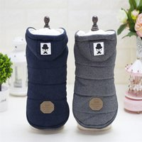 Wholesale thick pet winter coat - New Mustache Hooded Style Pet Dog Thick Winter Coat Clothes From S To Xxl Dog Coat Dogs Clothes