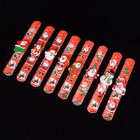 Wholesale claps toys online - LED Christmas bracelet glowing bracelet Santa snowman clap ring Christmas Supplies toy Xmas ornament new year gifts