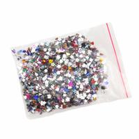 acryl strass diamant geformt großhandel-2000 Teile / paket 3D Nail art Dekorationen Acryl Diamant Formen Strass Nails Kunst Zubehör Mix Formen