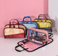 Wholesale multifunction makeup storage bag resale online - 4colors Portable Travel Cosmetic toiletry Bag Zipper Multifunction Makeup Pouch travel fashion women Wash Organizer Storage Bag FFA644