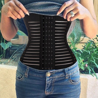 Wholesale Thermal Corset - New Sexy Body Corset Control Shaper Underwear Waist Tummy Trimmer Cincher Trainer Girdle Slim Thermal 4 Spiral Steel J1