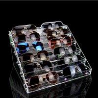 ingrosso scatole acriliche per la visualizzazione-Msjo Sunglasses Storage Organizer acrilico pieghevole gioielli stand organizzatore cosmetico scatola di stoccaggio occhiali display titolare