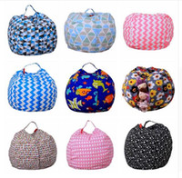 Wholesale Beanbag Free Shipping - Kids Storage Bean Bags Plush Toys 43 colors Beanbag Chair Bedroom Stuffed Animal Room Mats Portable Clothes Storage Bag DHL Free Shipping