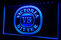 Wholesale beer neon bar signs - LS489-b Victoria Bitter VB Beer Bar Pub Neon Light Sign Decor Free Shipping Dropshipping Wholesale 8 colors to choose