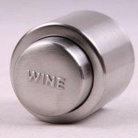 ingrosso bottiglia a vuoto tappo vino sigillato-Tappo di bottiglia di vino rosso vuoto sigillato in acciaio inox Tappo di flusso di liquore Tappo versare Conservare strumenti bar fresco QW7338