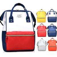 Wholesale rucksack outdoor laptop online - Fashion Girl Travel Satchel Rucksack Laptop Students Shoulder SchoolBag Handbag Mommy Backpacks Large Capacity DDA756 Outdoor Bags