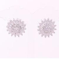 Wholesale flower services for sale - Group buy New Design Jewelry Luxury Clear Zircon Flower Elegant Stud Earrings For Women Jewelry Trade Assurance Service