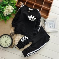 Wholesale Brand Baby Boy Clothing Suits Autumn Casual Baby Girl Clothes Sets Children Suit Sweatshirts Sports pants Spring Kids Set set