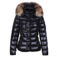 Wholesale women s raccoon fur jackets for sale - Group buy Winter M Women Jackets Black White Duck Down Coats With Raccoon Fur Collar Hooded White Red Female Thinker Clothes Sale
