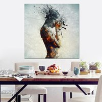mulher nua de óleo de arte venda por atacado-ARTE DA CONFIANÇA Colorido moderno nu arte pintura impressões na lona mulher sexy pintura a óleo do corpo para sala de estar decoração