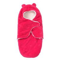 Wholesale Thicken Baby Sleeping Bag - Wholesale- Solid Baby Sleeping Bag Autumn and Winter Thicken Newborn Baby Sleeping Bag Anti Tipi Cotton Kids Sleeping 4 colors