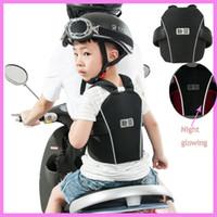 vélo pour enfants achat en gros de-Qualité Enfants Bébé Enfants Moto Gilet De Sécurité Ceinture Transporteur Véhicule Électrique Vélo Vélo Enfant Ceinture De Sécurité Harnais