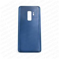 adhesivo adhesivo para samsung al por mayor-50 UNIDS Batería tapa de la puerta cubierta de la cubierta de cristal cubierta para Samsung Galaxy S9 Plus G960F G965F con adhesivo adhesivo