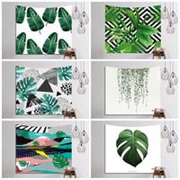 Wholesale 3d Tapestry - Green Plants Pattern Yoga Mat Durable Rectangle 3D Digital Printed Beach Towel Polyester Fiber Wall Tapestry Modern 16ls B