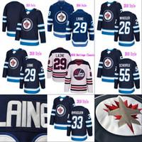 Wholesale Winnipeg Jersey - Winnipeg Jets 2016 Heritage Classic 29 Patrik Laine Jersey Mens 26 Blake Wheeler 33 Dustin Byfuglien 55 Mark Scheifele Hodkey Jerseys