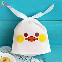 Wholesale Paper Bags For Sweets - HEY FUNNY 50 pcs pack Candy Bags Paper Cute Animal Expression Design For Sweet Dessert Handmade Wrapping Shopping Gift Bag