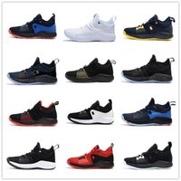 Wholesale high tops for men - 2018 High quality Paul George 2 PG II Basketball Shoes for Cheap top PG2 2S Starry Blue Orange All White Black Sports Sneakers Size 40-46