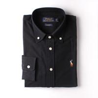 мужские рубашки оптовых-2018 новая мода весна сплошной цвет 100% хлопок мужская повседневная v-образным вырезом поло с длинными рукавами мужская футболка Slim Fit классические основные рубашки топы