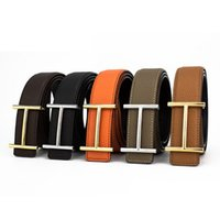 Wholesale Wide Leather Belt Black - Designer Luxury Brand Belts for Mens Genuine Leather Male Women Casual Jeans Vintage Fashion High Quality Strap Waistband