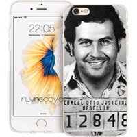 Wholesale iphone.4s case - Coque Pablo Escobar Clear Soft TPU Silicone Phone Cover for iPhone X Plus S SE S Plus C S iPod Touch Cases