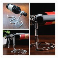 Wholesale whisky accessories for sale - Group buy Cheapest Magic illusion floating red wine bottle holder rope lasso wine bottle rack stand whisky whiskey kitchen bar pub accessories
